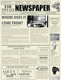 Newspaper Front Page Blank Template Newspaper Layout Newspaper Format Newspaper Generator Free