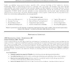 Procurement Manager Resume Project Manager Resume Resume Samples
