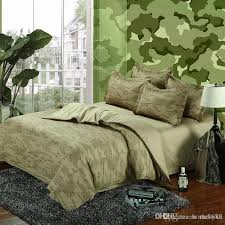 camouflage army bedding sets king queen size pure cotton childrens bedding sets green from china dhgate com