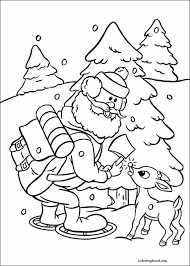 Small Picture Rudolph The Red Nosed Reindeer coloring pages ColoringBookorg