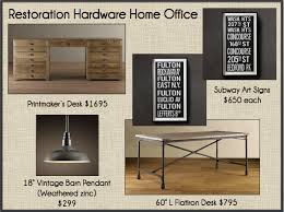 restoration hardware office. Delighful Hardware These Restoration Hardware Pieces Would Definitely Create The Hip  Industrial Vibe They Are Looking For But Itu0027s Going To Come At A Price And Office 9