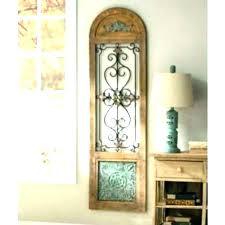 arched decorative mirror window wall decor 3 scroll metal meta