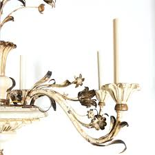 painting a brass chandelier off white painted wood and tole paint brushed nickel full size