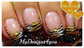 Tiger Nails | Animal Print Nail Art ♥ - YouTube