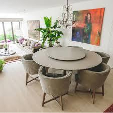 custom made round caesarstone dining table