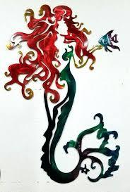 wooden mermaid wall hanging metal mermaid wall art mermaid metal wall art aluminum mermaid metal mermaid