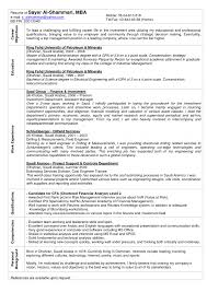 Mba Resume Examples Corol Lyfeline Co Career Objective For Fre Sevte