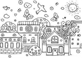 Springtime Coloring Page For Kids Download Print Online Coloring