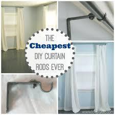 Diy Curtain Rods Diy Curtain Ideas Pinterest 1000 Ideas About Drop Cloth Curtains