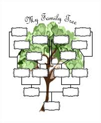 printable family tree template sample 4 generations