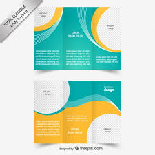 Printable Tri Fold Brochure Template Stunning Blue And Yellow Brochure Template Vector Free Download