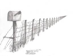 Fence Post Drawing Wooden Fence Post Drawing Nongzico