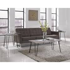 Ameriwood Home Owen Retro Coffee Table Distressed Gray Oak - Coffee table with chair