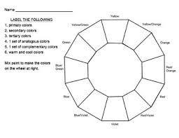 Find & download free graphic resources for color wheel. Blank Color Wheel Worksheets Teaching Resources Tpt