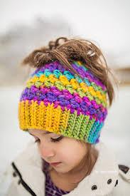 Ponytail Beanie Crochet Pattern Impressive Ravelry Kaycee Ponytail Or Bun Beanie Hat Pattern By Crochet By