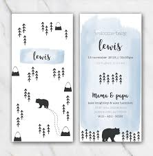 Template For Birth Announcement Mountain And Bear Birth Announcement Template For Boy