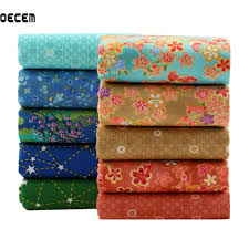 Japanese Style Cotton Quilting Fabric Patchwork Fat Quarter ... & Japanese Style Cotton Quilting Fabric Patchwork Fat Quarter Bundles Tissues Fabric  For Bedding Pillows Cushion 10pcs Adamdwight.com