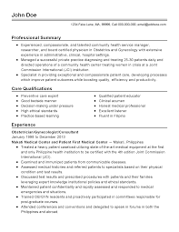Physician Assistant Resume Templates Ob Gyn Cv Nurse Resume Sample Physician Assistant Obgyn 47