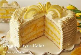 Lemon Layer Cake Recipe Thebakingpancom