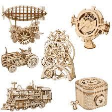 ROKR <b>DIY</b> 3D деревянная головоломка механический привод ...