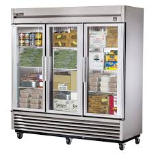 true ts 72fg hc fgd01 78 13 three section reach in freezer 3 glass door 115 208 230v 1ph