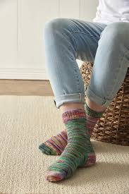 Sock Patterns New Rainbow Sherbet Sock Pattern AllFreeKnitting