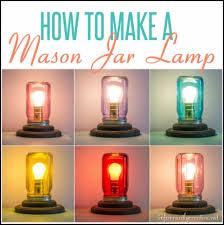 mason jar table lamp