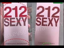 Fake vs Real <b>Carolina Herrera 212 Sexy</b> Perfume - YouTube