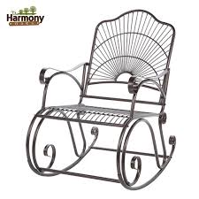 black wrought iron furniture. Rocker Wrought Iron Outdoor Patio Porch New Furniture Set With Chairs Black