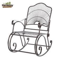 rocker wrought iron outdoor patio porch new furniture wrought iron patio set with rocker chairs