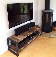 iron industrial furniture. Awesome Industrial Tv Stand For Your Living Room Decor: Reclaimed Wood With Iron Furniture