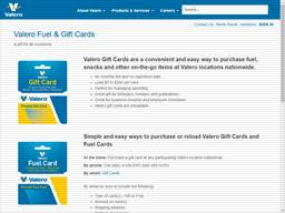 Valero offers a variety of credit card and payment products. Valero Gift Card Balance Check Balance Enquiry Links Reviews Contact Social Terms And More Gcb Today