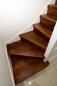 dark basement stairs. Stair Cladding Conversion - Dark Oiled Basement Stairs I