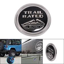 jeep wrangler logo.  Wrangler 3D Metal Solid Steel Sticker Emblem Badge For Jeep Wrangler Logo Trail  Rated 4X4 Fender Truck Intended