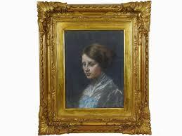 angiolo tommasi portrait of a woman auction modern and contemporary art design i maison bibelot casa