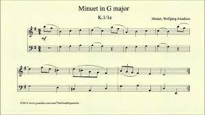 Mozart, Minuet in G major, K 1 1e - YouTube