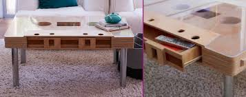leggz chrome furniture legs under retro cassette coffee table