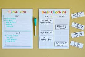 To Do List Charts Diy Chore Chart Dry Erase To Do List Free Printables