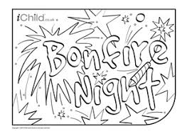 Small Picture Guy Fawkes Bonfire Night Colouring in picture Party Themes