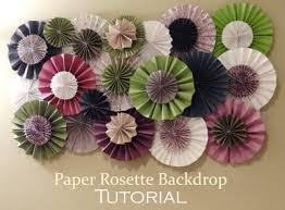 Paper Rosette Flower How To Make Paper Rosette Flower Tutorial Flowers Healthy