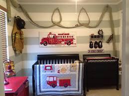 firefighter nursery with hose baby stuff scheme of fire truck wall art