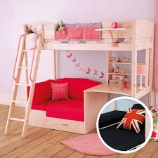 Bunk Bed With Couch And Desk Bunkbed With Futon And Desk Thuka Maxi Maxi White 7 Loft Bed