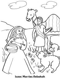 Kleurplaat Izak En Rebekka