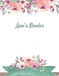Binder Cover Page Binder Cover Sheet Magdalene Project Org