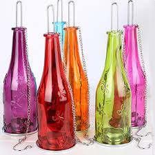 Eco friendly Recycle Wine Bottle Tealight Candle Holder Glass Hanging  Lantern Hurricane Indoor Outdoor Romantic Lighting-in Candle Holders from  Home ...