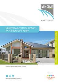 Choice Homes Designs Contemporary Home Designs For Calderwood Valley By Mincove