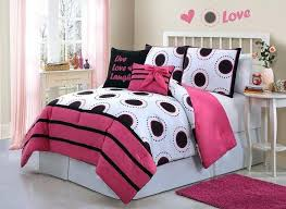 gorgeous hot pink twin bedding girls bedding black white pink bed in a bag comforter set