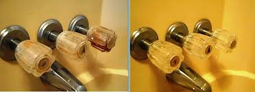 best way to clean faucet handles