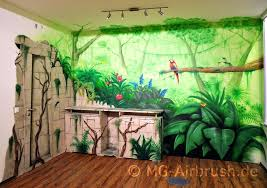 jungle mural painting by mg airbrush wall decals uk