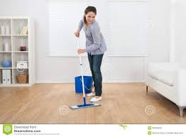 Mopping Kitchen Floor Woman Mopping Kitchen Floor Royalty Free Stock Photo Image 34153995